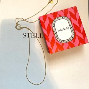 Stella & Dot Faceted Ball Chain 30""